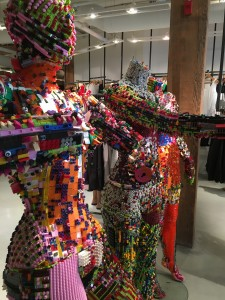 Mannequins made of Legos at The Lab.