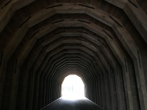 Light at the end of the tunnel (this one is just east of Portland).